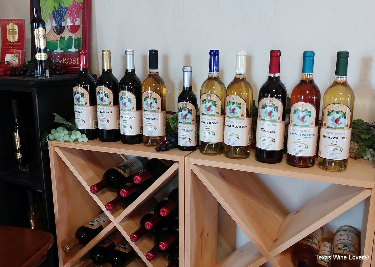 Red Wing Dove wines