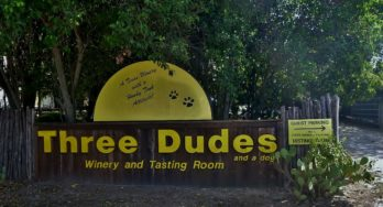 Three Dudes Winery sign