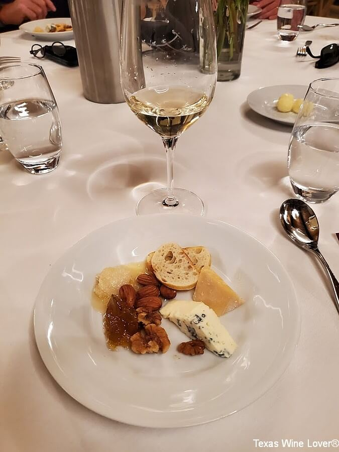 Texas Fine Wine dinner cheese and wine pairing