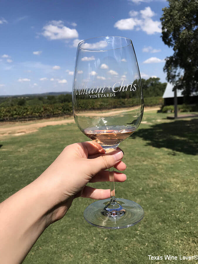 William Chris Vineyards glass