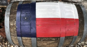 Wine barrel on Main Street