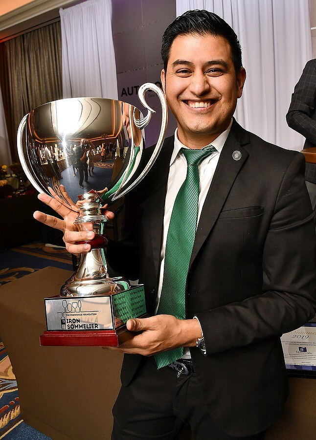 2019 Iron Sommelier winner Andres Blanco
