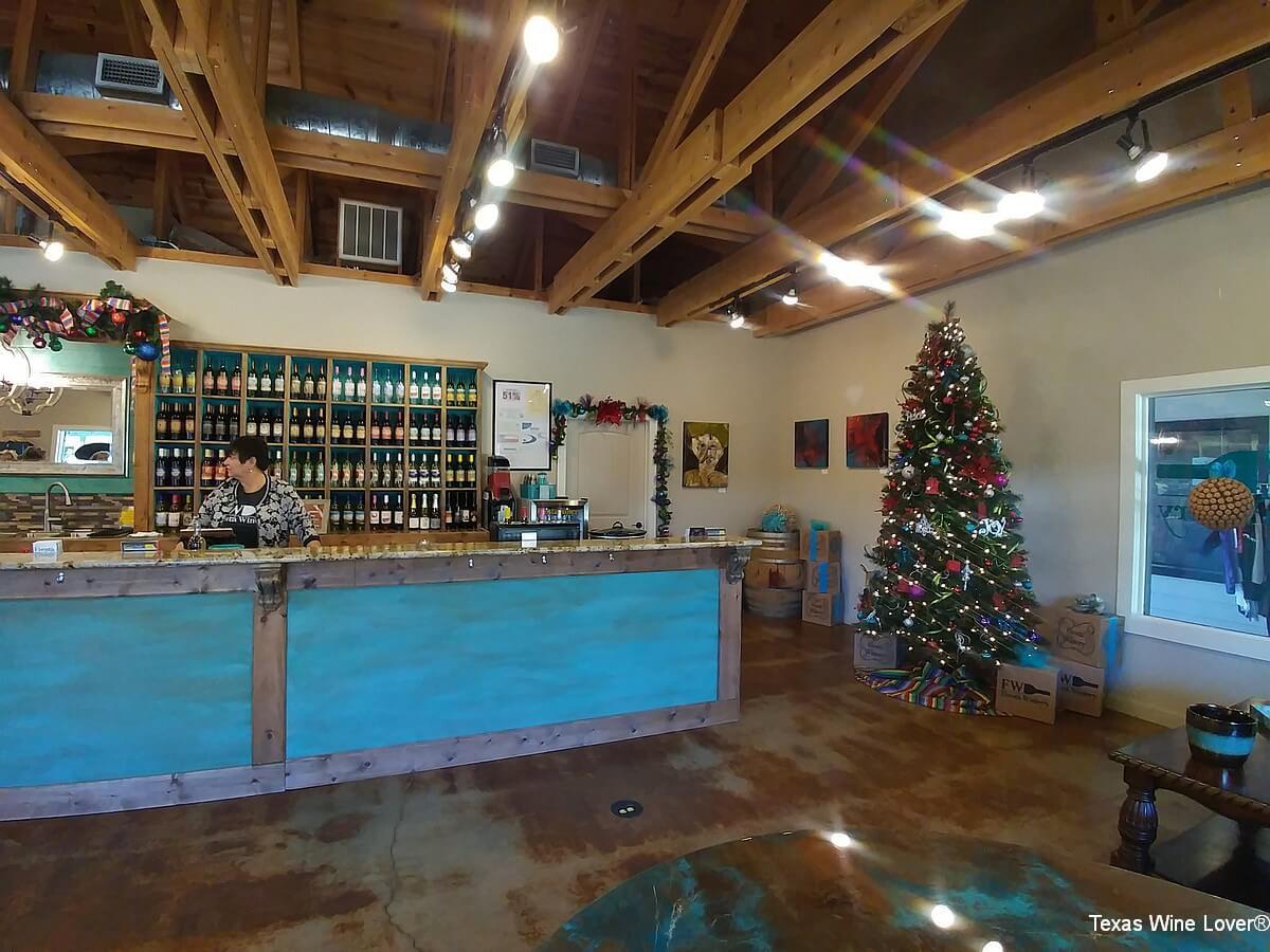 Fiesta Winery Marble Falls tasting room
