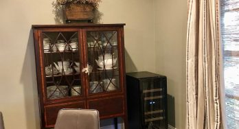 "NewAir 15"" Built-in 29 Bottle Dual Zone Wine Fridge dining room"