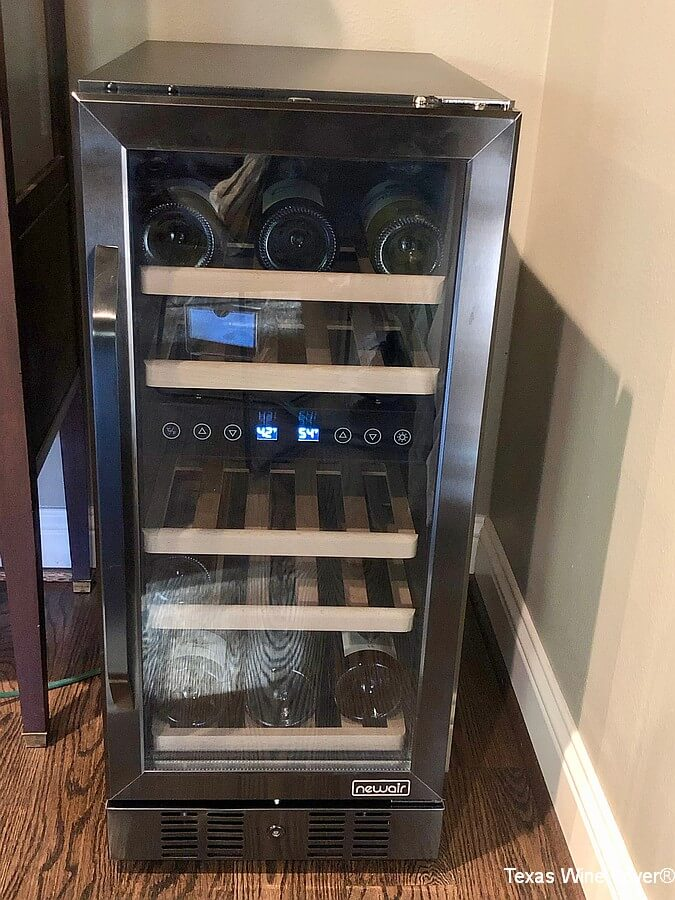 Newair 15 Black Stainless Steel Wine Fridge Review Texas Wine Lover