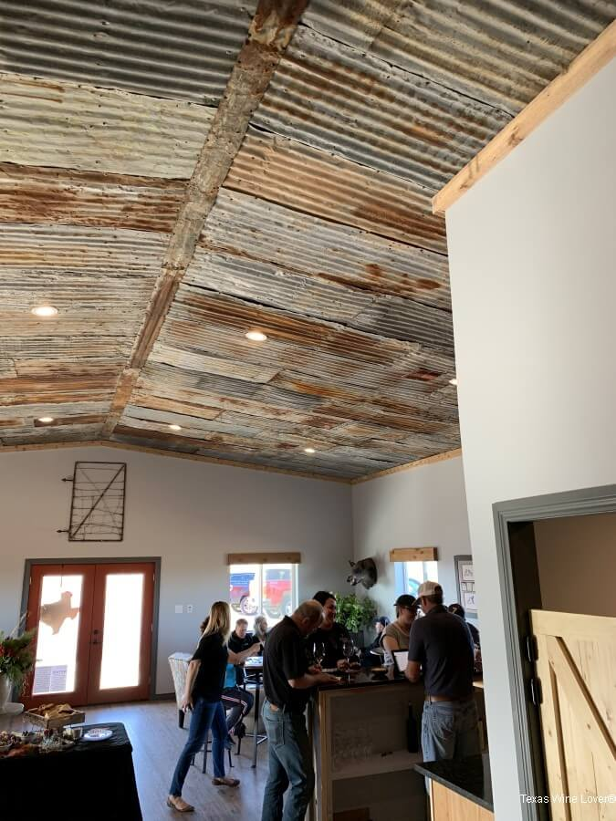 Bolen Vineyards tin ceiling