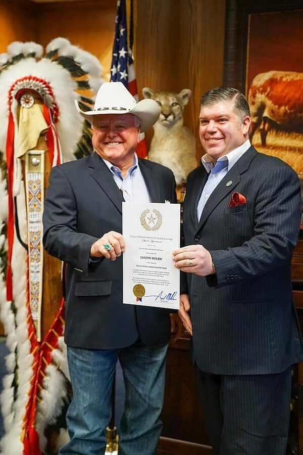 Sid Miller and Jason Hisaw