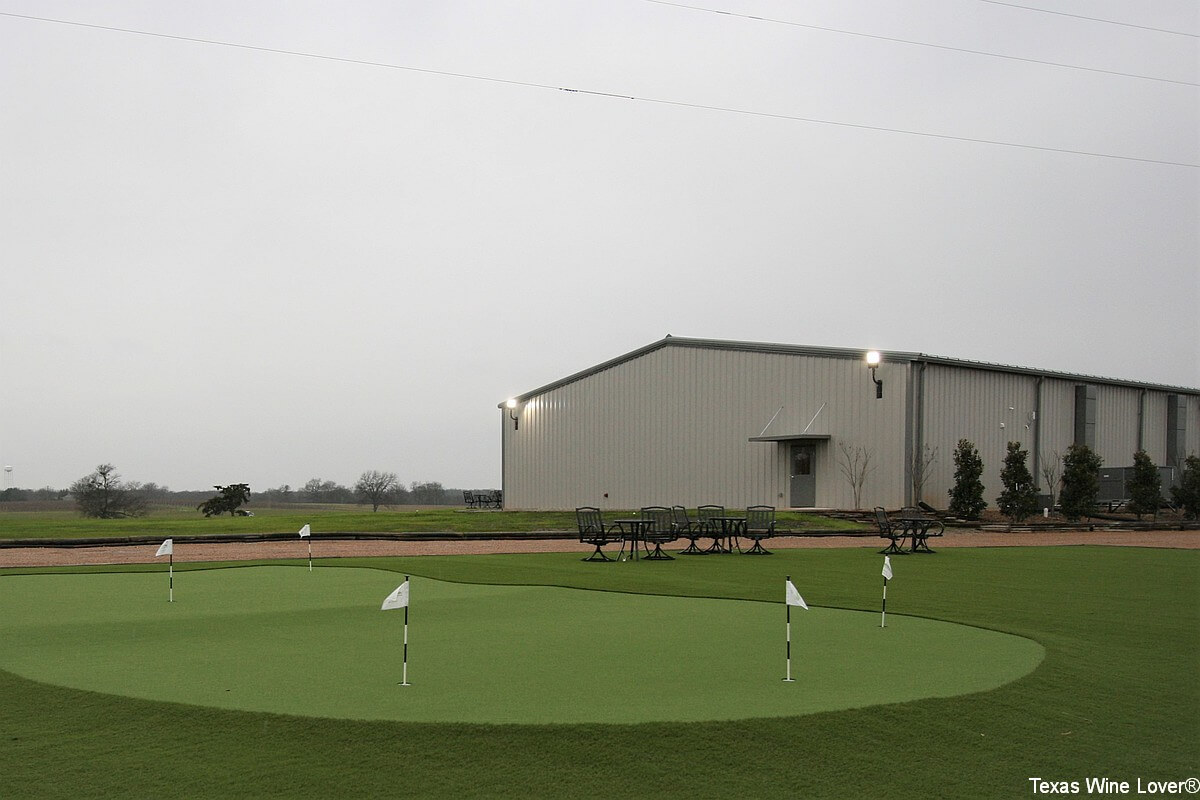 Hidden Hangar putting green