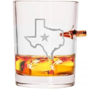308 Bullet Whiskey Glass - State of Texas