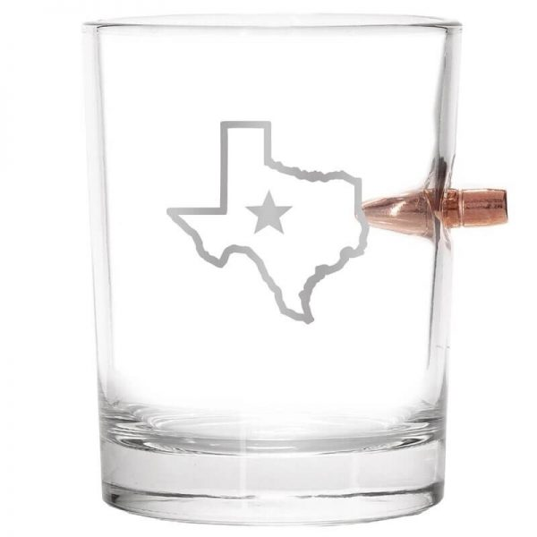 308 Bullet Whiskey Glass - State of Texas just glass