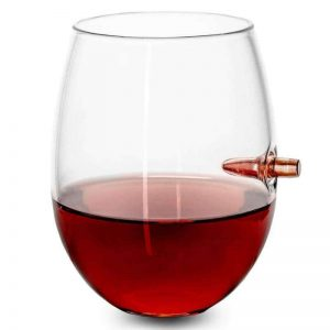 .308 Real bullet wine glass