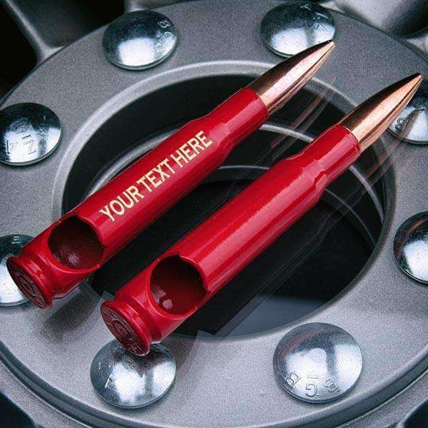 50 Caliber Bullet Bottle Opener in Red personalized