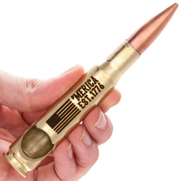 Merica Est. 1776 .50 Caliber Bullet Bottle Opener gold