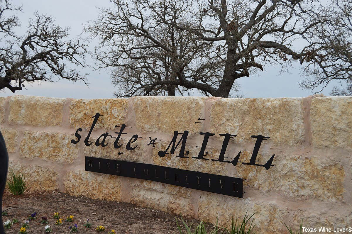 Slate Mill Wine Collective sign