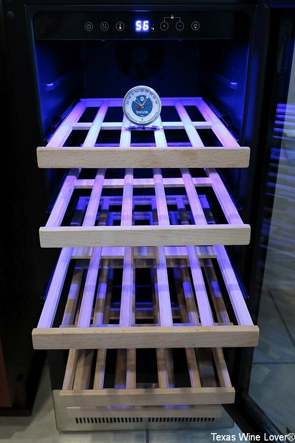 15 inch BODEGA wine cooler with lights and shelves
