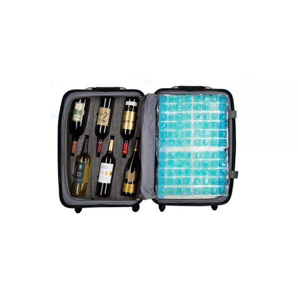VinGardeValise Wine Chiller Sheet in suitcase