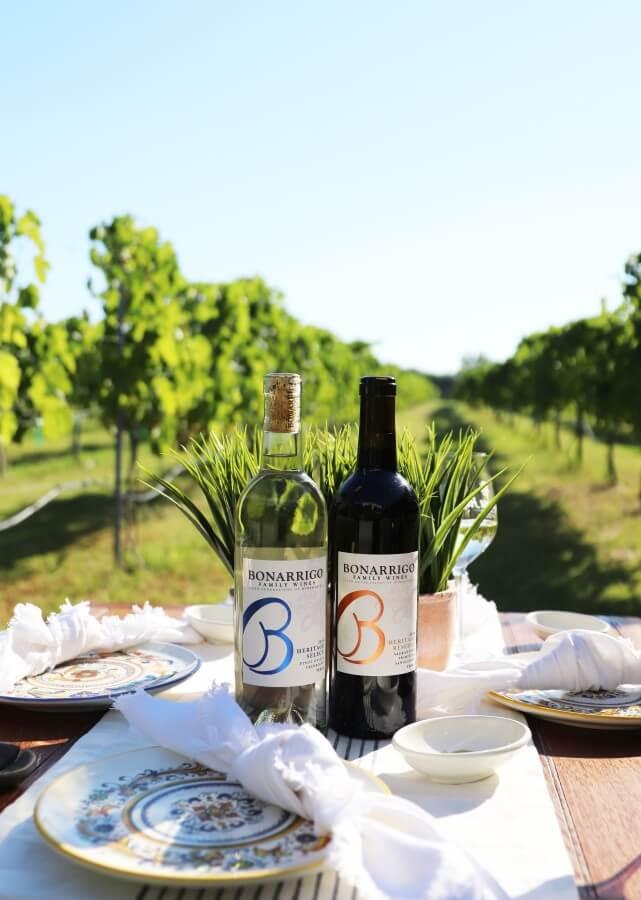 Bonarrigo Family Wines bottles