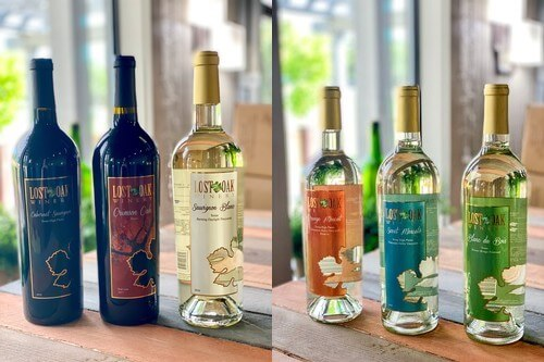 Lost Oak Winery virtual tasting wines