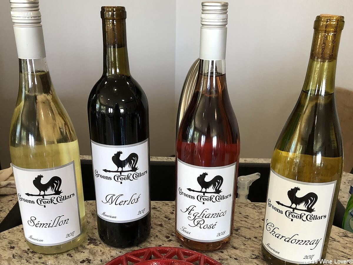 Greens Creek Cellars wine