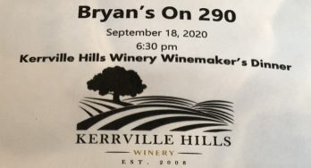 Bryans on 290 winemaker dinner