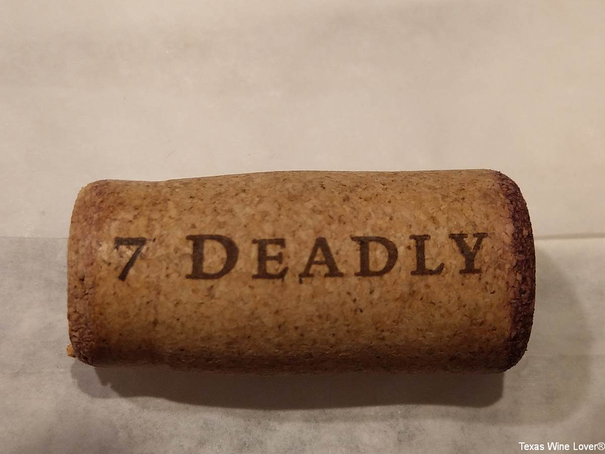7 Deadly wines cork