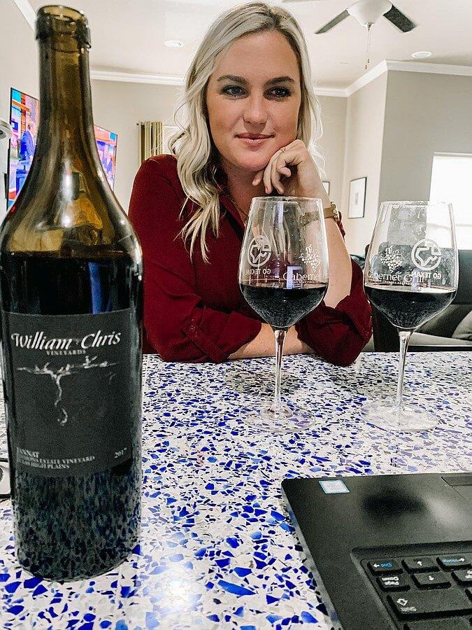 Abbey Hartgrove in virtual tasting