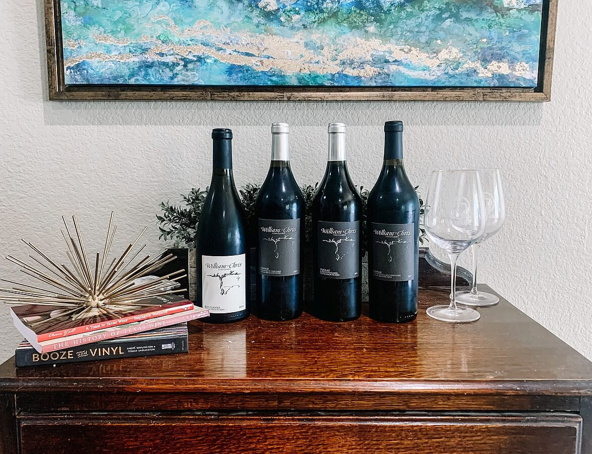 Wines from William Chris virtual tasting