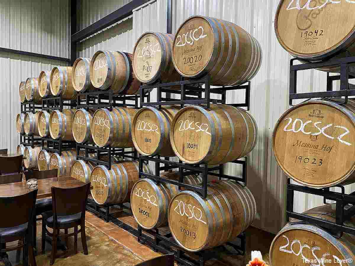Messina Hof Harvest Green Winery and Kitchen barrels