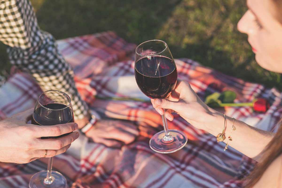 Wine on a picnic
