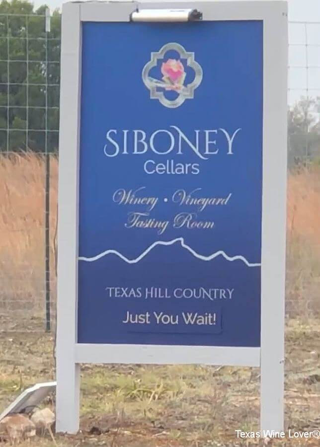 Siboney Cellars sign