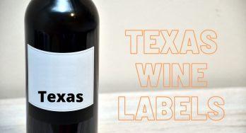 Texas wine labels