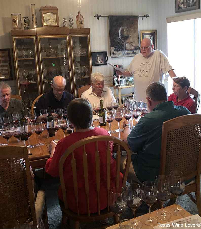 Jerry Smith leads the tasting